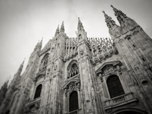 Lombardy, Milan, Piazza Duomo, Duomo Cathedral, Defocussed, Italy by Walter Bibikow