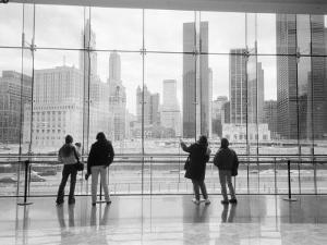 Looking at Ground Zero, Lower Manhattan, NYC by Walter Bibikow
