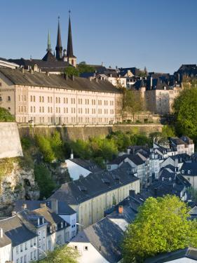 Lower Town, View of Grund, Luxembourg City, Luxembourg by Walter Bibikow