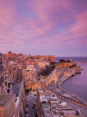 Malta, Valletta, City View from Upper Barrakka Gardens by Walter Bibikow