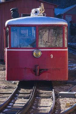 Manitou Springs, Pikes Peak Cog Railway, Locomotive Train, Colorado, USA by Walter Bibikow