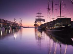 Massachusetts, Boston, Sail Boston Tall Ships Festival, Tall Ships by World Trade Center, USA by Walter Bibikow