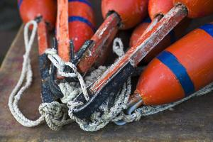Massachusetts, Cape Ann, Rockport, Lobster Buoys by Walter Bibikow