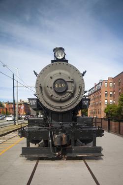 Massachusetts, Lowell, Lowell National Historic Park, Railroad Exhibit by Walter Bibikow