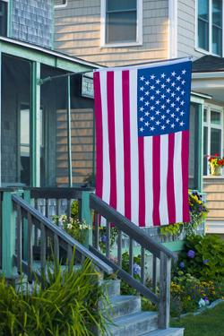 Massachusetts, Rockport, Long Beach, Porch by Walter Bibikow