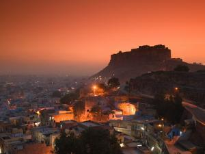 Meherangarh Fort and Town, Rajasthan, India by Walter Bibikow