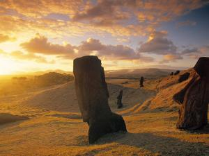 Moai Quarry, Easter Island, Chile by Walter Bibikow