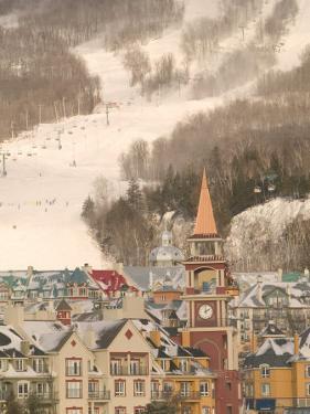 Mont Tremblant Ski Village in The Laurentians, Quebec, Canada by Walter Bibikow