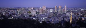 Montreal from Mt. Royal Park, Quebec, Canada by Walter Bibikow