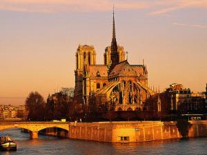 Morning Light on Notre Dame, Paris, France by Walter Bibikow