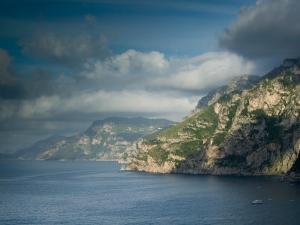 Morning View of the Amalfi Coast, Positano, Campania, Italy by Walter Bibikow