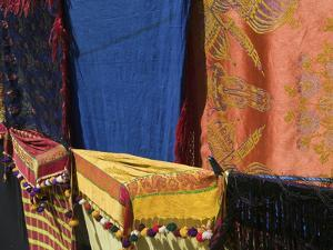 Moroccan Fabric, Dades Gorge, Dades Valley, Morocco by Walter Bibikow