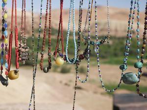 Moroccan Souvenir Jewelry, Ait Benhaddou, South of the High Atlas, Morocco by Walter Bibikow