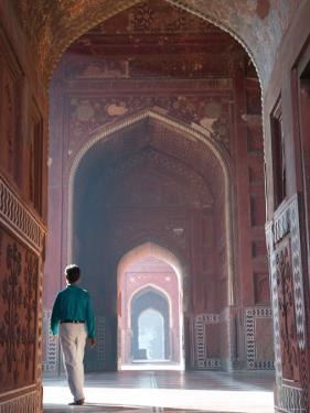 Mosque Hall Detail, Taj Mahal, India by Walter Bibikow