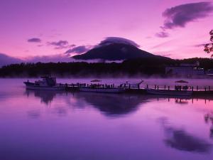 Mt. Akandake and Lake Akando, Dawn, Japan by Walter Bibikow