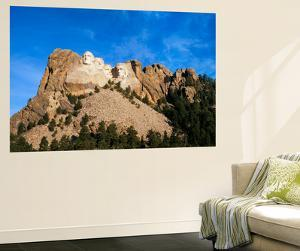 Mt Rushmore National Monument and Black Hills, Keystone, South Dakota, USA by Walter Bibikow