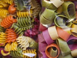 Multi Colored Pasta, Torri Del Benaco, Verona Province, Italy by Walter Bibikow