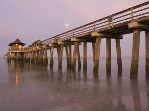 Naples Pier, Naples, Florida, USA by Walter Bibikow