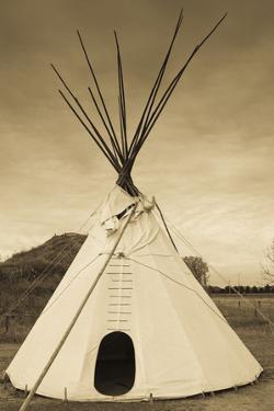 Native American Teepee, Grand Island, Nebraska, USA by Walter Bibikow
