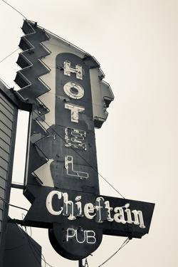 Neon Sign for the Chieftain Hotel and Pub, Squamish, British Columbia, Canada by Walter Bibikow