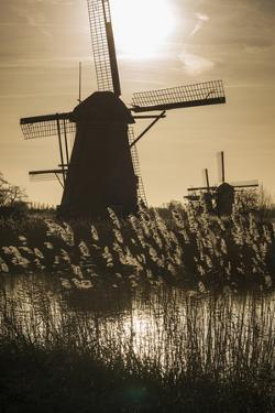 Netherlands, Kinderdijk. Traditional Dutch windmills by Walter Bibikow