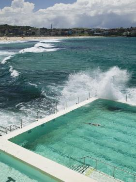 New South Wales, Sydney, Bondi Beach, Bondi Icebergs Swimming Club Pool, Australia by Walter Bibikow