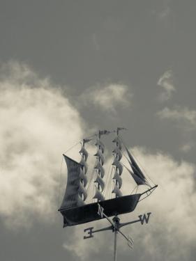 New York, Long Island, Greenport, Tall Ship Weather Vane, USA by Walter Bibikow