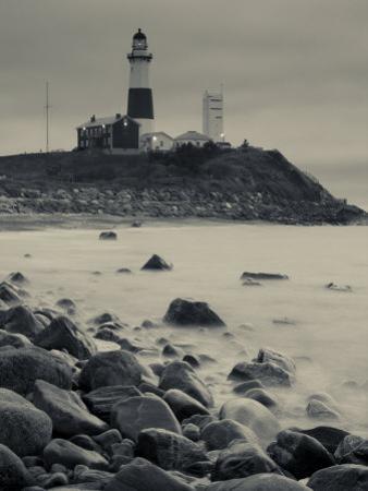 New York, Long Island, Montauk, Montauk Point Lighthouse, USA by Walter Bibikow