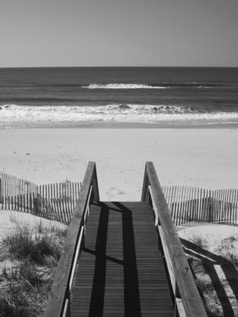 New York, Long Island, the Hamptons, Westhampton Beach, Beach View from Beach Stairs, USA by Walter Bibikow