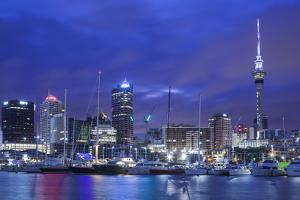New Zealand, North Island, Auckland. Viaduct Harbor by Walter Bibikow