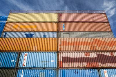 New Zealand, South Island, Christchurch, cargo container buildings by Walter Bibikow