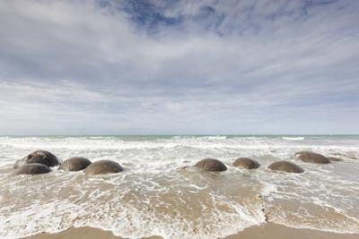 New Zealand, South Island, Otago, Moeraki, Moeraki Boulders by Walter Bibikow
