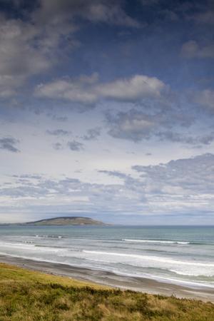 New Zealand, South Island, Waihowaka, sea view from McCraken's Rest by Walter Bibikow
