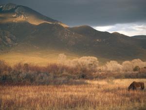 Nm, Taos, Sangre Christo Mountains by Walter Bibikow