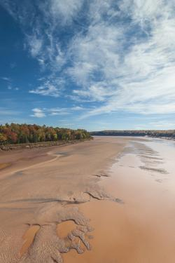 Nova Scotia, Green Oaks. Fundy Tidal Interpretive Area, elevated view of huge Bay of Fundy by Walter Bibikow