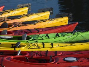 Ocean Kayaks, Rockport Harbour, Rockport, Cape Ann, Massachusetts, USA by Walter Bibikow