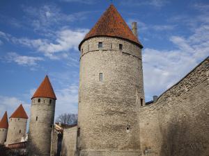 Old City Walls, Tallinn, Estonia by Walter Bibikow