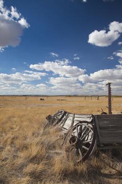 Old Wagon, Prairie Homestead, Cactus Flat, South Dakota, USA by Walter Bibikow