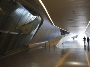 Pavilion Bridge, Zaragoza, Spain by Walter Bibikow