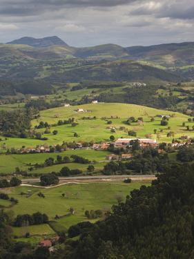 Pena Cabarga Mountain View, Santander, Spain by Walter Bibikow