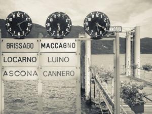 Piedmont, Lake Maggiore, Cannobio, Lake Ferry Timetable, Italy by Walter Bibikow