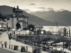 Piedmont, Lake Maggiore, Cannobio, Piazza Vittorio Emanuele Iii, Italy by Walter Bibikow