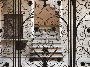 Piedmont, Lake Orta, Orta San Giulio, Ornate Gate, Italy by Walter Bibikow