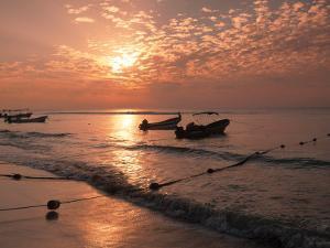 Playa Del Carmen Beach, Yucatan, Mexico by Walter Bibikow