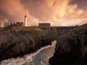 Pointe De St. Mathieu Lighthouse at Dawn, Brittany, France by Walter Bibikow