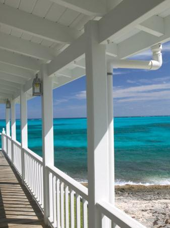 Porch View of the Atlantic Ocean, Loyalist Cays, Abacos, Bahamas