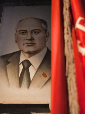 Portrait of Mikhail Gorbachev, Ussr Leader in the 1990S, Estonia by Walter Bibikow