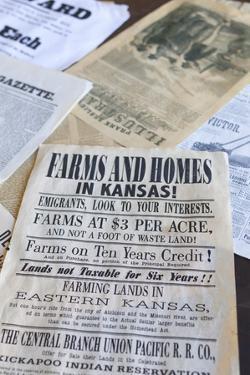 Print Shop Paper, Old Cowtown Museum, Wichita, Kansas, USA by Walter Bibikow