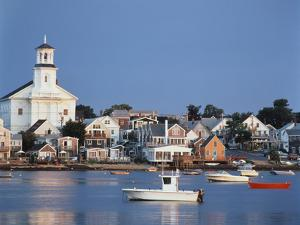 Provincetown Harbor and Town, Cape, Cod, Massachusetts, USA by Walter Bibikow