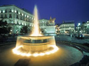 Puerta Del Sol, Madrid, Spain by Walter Bibikow